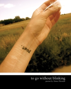 to go without blinking     [BlazeVOX books]