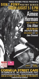 Aimee Herman and Eric Alter perform at Cornelia Street Cafe