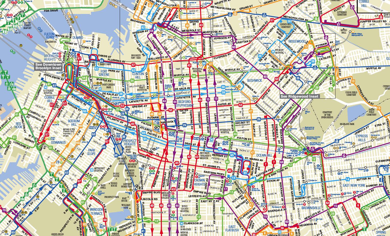 Bus Aimee Herman - Brooklyn bus map